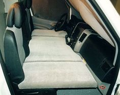 making a bed in the front seat of a van - Google Search