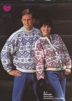 Garnglede hefte 23 nr 9 Fair Isle Knitting, Vintage Knitting, Vintage Sweaters, Christmas Sweaters, Diva, Collection, Fashion, Moda, La Mode