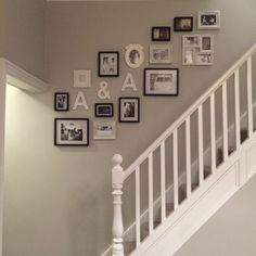 Black & white photo wall finally finished!