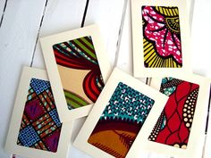 Custom quantity. Wedding-invitations African wax by ChilliPeppa