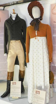 Costumes worn by Colin Firth and Emma Thompson in the BBC Production of Pride and Prejudice, costumes by Dinah Collin