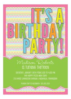 My favorite birthday invitation on the site right now. -Madison