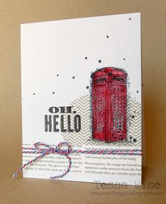 Feeling Sentimental set by Stampin' Up!.  It's a freebie with Sale-a-bration this year and I loved the look of it!.  I paired it with the chevron oval from the Oh, Hello! set and some sentiments from other sets.