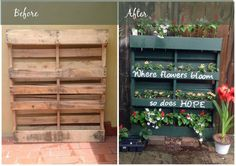 Brighten Up Your Garden With This Clever Repurposed Pallet Planter  - CountryLiving.com