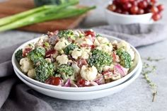 Broccoli-Cauliflower Salad (Whole30) - The Real Food Dietitians