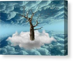 Tree Canvas Print featuring the mixed media Life Of A Tree by Marvin Blaine