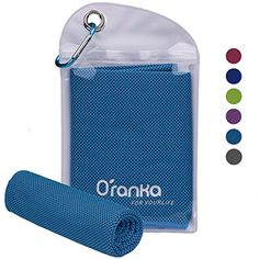 203a654452 Oranka Cooling Towel, Chilling Neck Wrap Instant Cooling Ice Cold Scarf  Evaporative Chilly Cool Towels