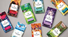 Taylors of Harrogate Unveils Bold New Packaging — The Dieline   Packaging & Branding Design & Innovation News