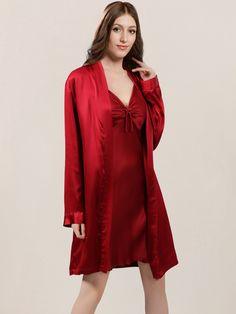 5f700dd610 Short Women s Silk Robe. Silk PajamasSilk SleepwearNightwearMulberry SilkPure  SilkPure ProductsWineSatinFabric. Shop highest quality ...