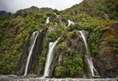waterfalls near Franz Josef Glacier. . .  LOVE this place