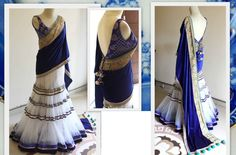White color Mughal Saree in net