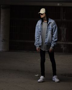 Jimi Rantala - Adidas By Raf Simons Response Trail Ii, Represent Clothing Denim Jacket, Fre Official Victory Cap - Response