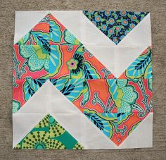 jenniferworthen  Follow Craftsy BOM, February  Craftsy block of the month for February. Made with Amy Butler Lark ...