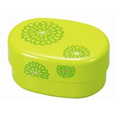 2 Tier  Bento Box Lunch Box Hakoya Green Kiku Chrysanthemum Bento Band Incl