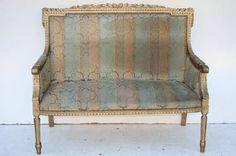 el_kin * sofa sillon frances luis xvi de 2 cuerpos dorado