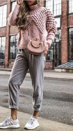 pink ruffle puff sweater