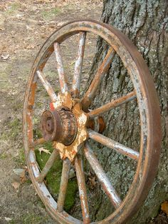 Vintage Antique Wagon Wheel