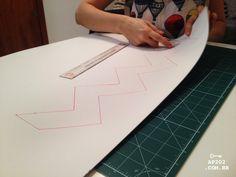DIY tapete chevron zigue zague faça você mesmo  (1)