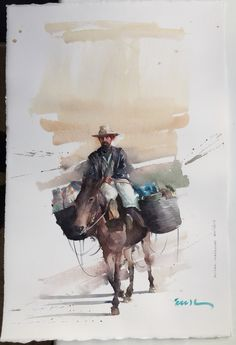 Logística em Marrocos - EudesCorreia Watercolor Sketch, Watercolor Artists, Watercolor Animals, Watercolor Portraits, Watercolor Landscape, Watercolor Paintings, Watercolors, Painting People, Figure Painting