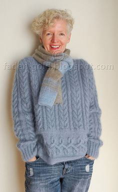 Ravelry: # 36 Pulli pattern by Lana Grossa 50g 250m alpaca 70% silk 30%