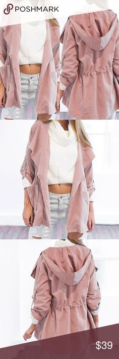 Soft and light pink outerwear Super soft, like light suede feelings. True to size. Great for a cover up, sun covers, or light jacket. Jackets & Coats