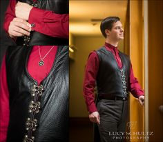 Steampunk Groom | Groom Portrait | Leather | Scarlet | Lucy Schultz Photography