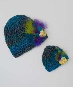 Another great find on #zulily! Peacock Feather Flower Beanie & Doll Beanie by Enchanted Fairyware Couture #zulilyfinds