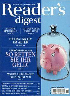 Vermögensanlage - So retten Sie Ihr Geld! Gefunden in: Readers Digest Deutschland, Nr. 11/2014