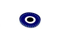 Plexiglass coasterScreenprinted & lazer cuttedDimensions 10 x 10 x cmDesigned & made in Greece Wedding Ideas Board, Evil Eye, Screen Printing, Greece, Coasters, Eyes, How To Make, Tableware, Blue