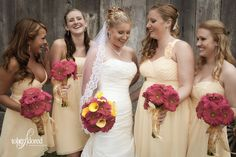 Hot pink and yellow wedding at Chateau La Joye, CA