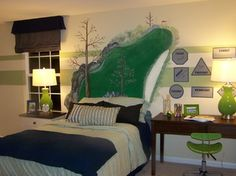on the green golf theme boys room done around the love of golf he