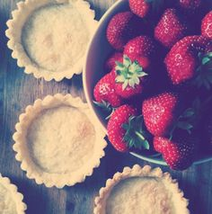 Gariguette strawberries are the first to appear at the spring market and are perfect for this simple tart.  The pâte sablée recipe is a new favorite from Tartine by Elisabeth M. Prueitt and Chad Robertson.