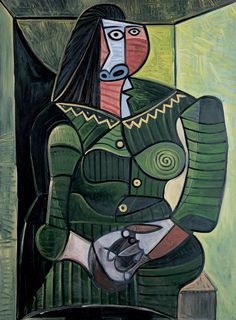 Pablo Picasso / Woman in Green (Dora) / 1944 / oil on canvas / such rich colors...