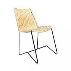 jobs tienda de diseño silla estructura de hierro y mimbre