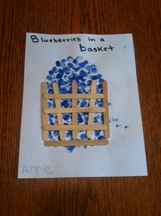 Letter Bb week, blueberries basket project