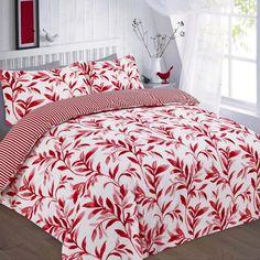 ellie red bedding set
