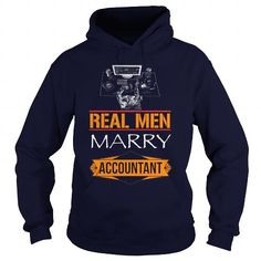 Cool real men marry accountant T shirts