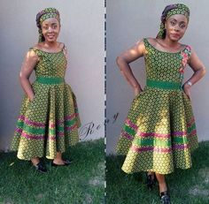 Stunning Shweshwe Dresses 2019 for African Girls - Reny styles - African Fashion Dresses