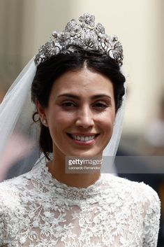 Alessandra de Osma smiles after the wedding of Prince Christian of Hanover and  Alessandra de Osma at Basilica San Pedro on March 16, 2018 in Lima, Peru. (Photo by Leonardo Fernandez/Getty Images)