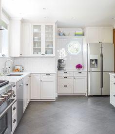 Bright white kitchen | Blue Ridge Boeing Castle Taken to New Heights by Model Remodel, Seattle, WA
