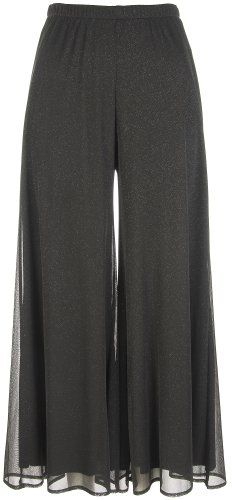 Connected Apparel Black Glitter Palazzo Pants Black 1X Connected,http://www.amazon.com/dp/B002SY8L66/ref=cm_sw_r_pi_dp_IF7Osb0EA7R6R5T5