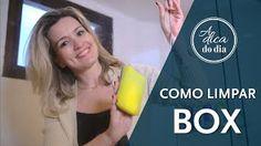 Limpar box de banheiro (seja de vidro ou de acrílico) sem deixar marcas de gordura corporal: Flávia Ferrari mostra todas as dicas neste vídeo do #aDicadoDia