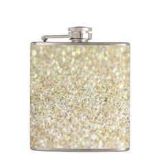 Gold Glitter on Flask