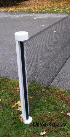 Keep Kids Safe Outdoors - Kidkusion Retractable Driveway Safety Net | UrbanKidz.ca