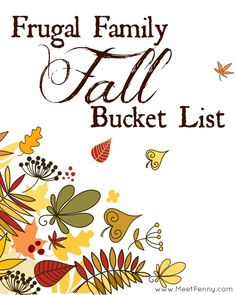 A really great list of inexpensive things that a family can do together in Autumn.