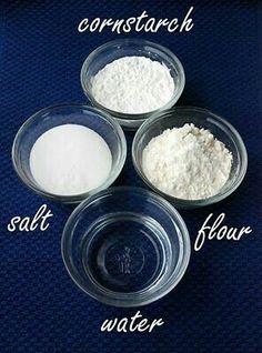 amido di mais + farina  +  acqua + sale