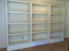 Bookshelf casings were painted BM Mascarpone AF-20 to relate to the bookshelves as a lot of IKEA furniture is exactly that colour.
