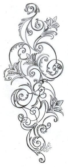 Floral Pattern Tattoos Stock Vector Artistic Tattoo Picture
