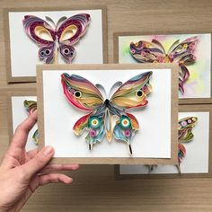 Quilling for kids Quilling Butterfly, Arte Quilling, Quilling Letters, Quilling Work, Paper Quilling Patterns, Quilled Paper Art, Quilling Jewelry, Quilling Paper Craft, Quilling Cards