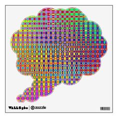 Psychedelia Thought Bubble Wall Decal